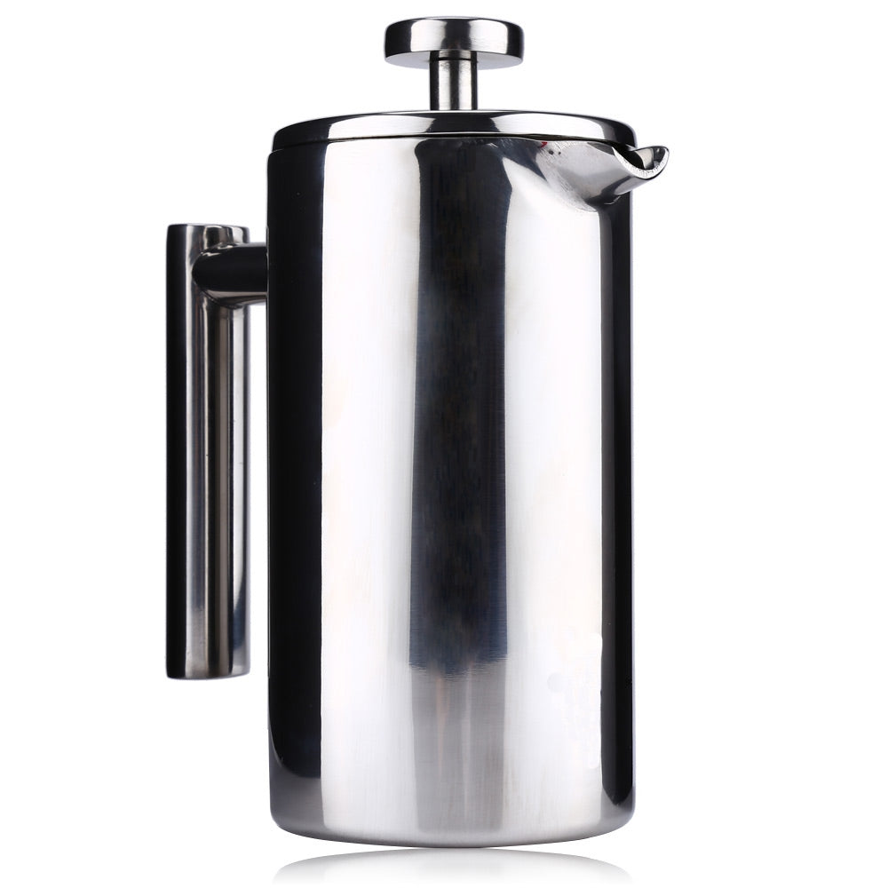 350ML Stainless Steel Insulated Coffee Tea Maker with Filter Double Wall