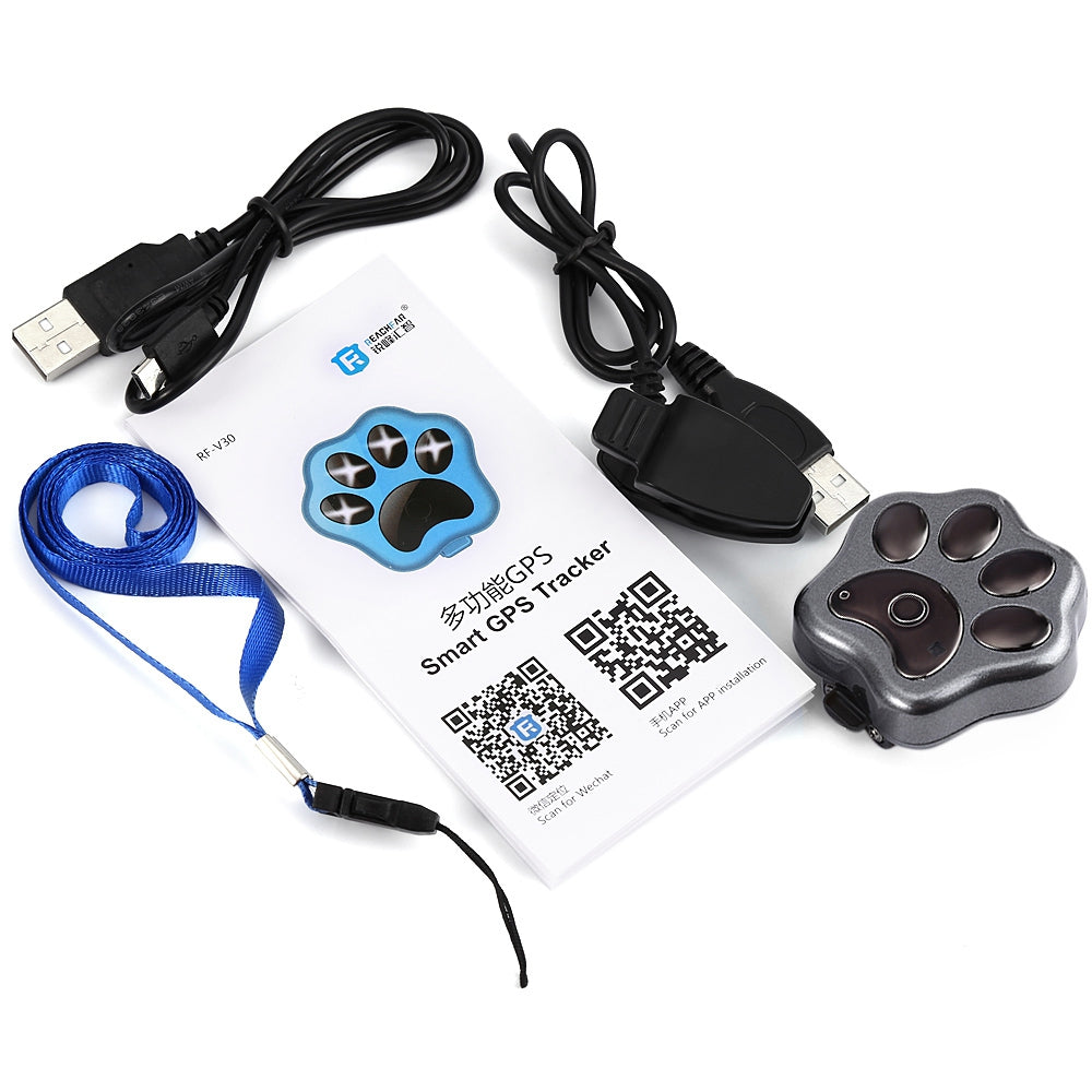 RF-V30 Smart WiFi Pet GPS Tracker Remote Wireless Finder Dog Cat Collar Locator