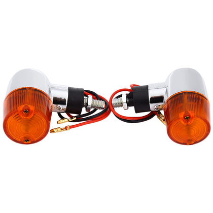 Pair of Universal Motorcycle LED Signal Turn Light Bright Indicator Lamp