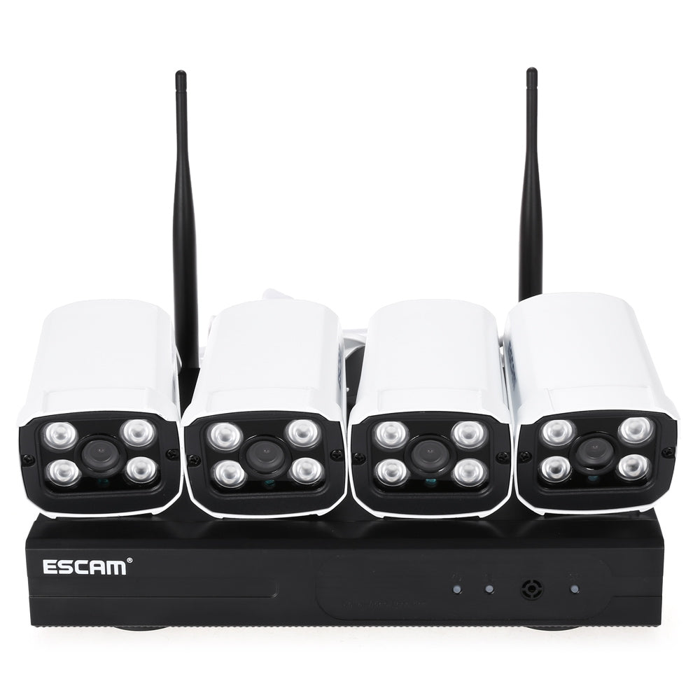 ESCAM WNK803 Wireless HD NVR Kit with Eight 720P Cameras Night Vision