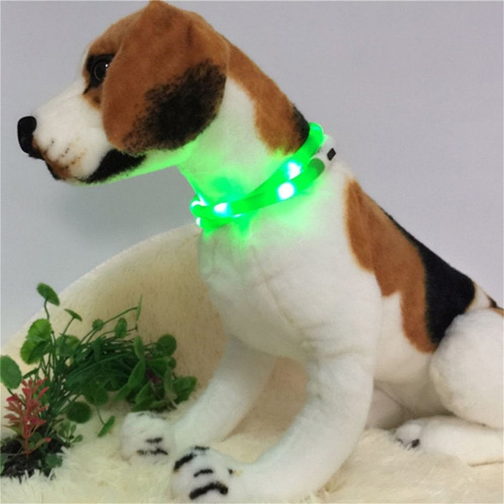 YWXLight LED USB Rechargeable Luminous Dog Collar