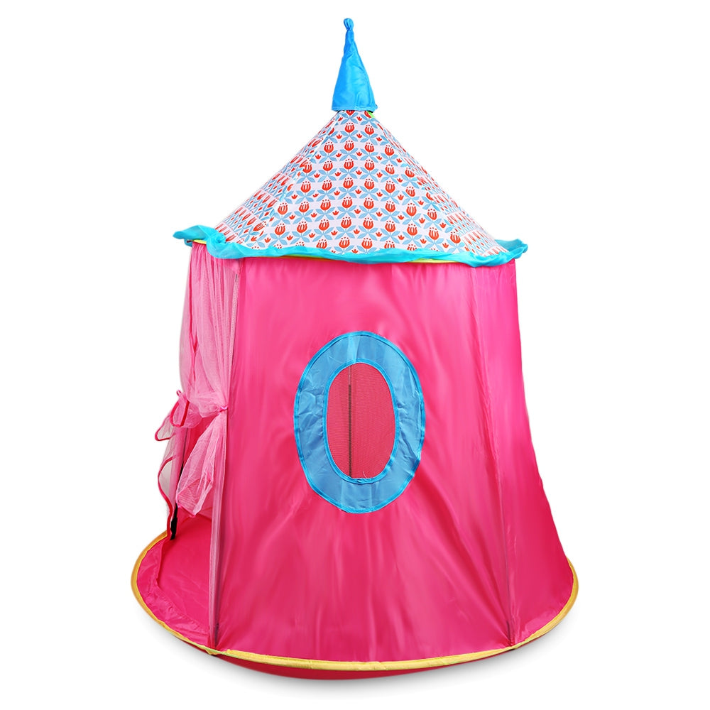 Foldable Princess Castle Kids Play Tent Indoor / Outdoor Use