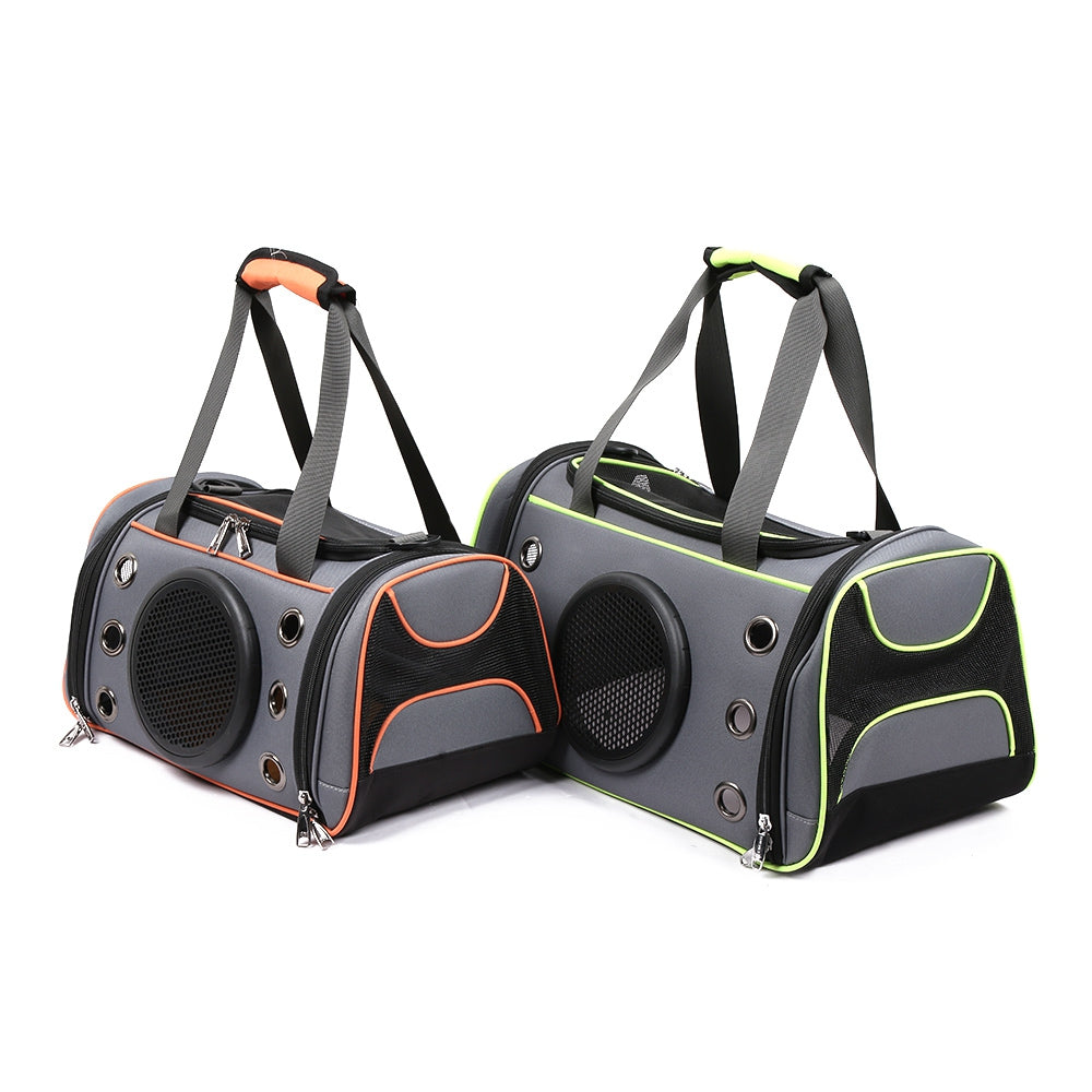 Dog Cat Carrier Space Capsule Shape Breathable Handbag