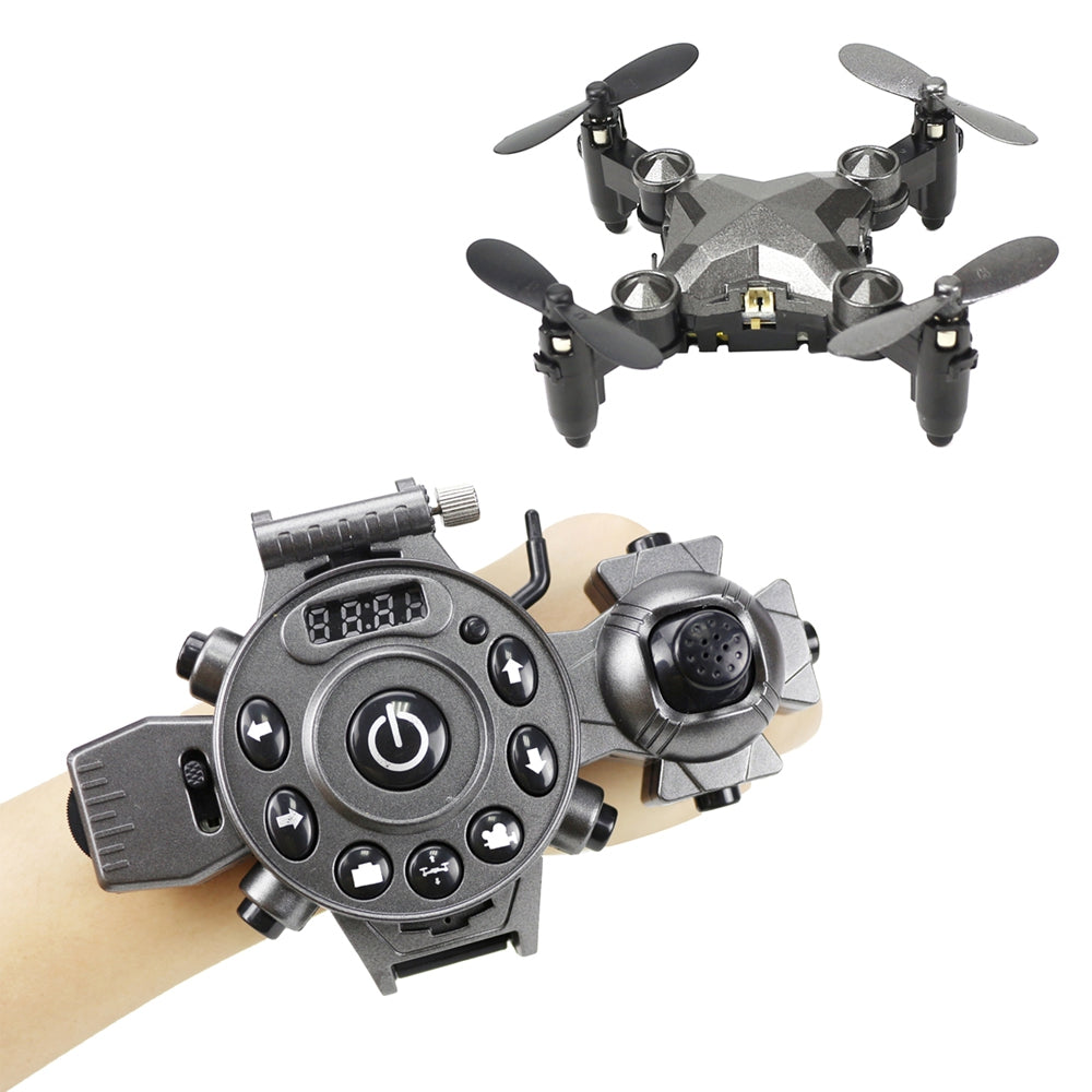 Watch Control RC Drone Mini Foldable Quadcopter Altitude Hold G-sensor Control Headless Mode One Key Return High / Medium / Low Speed