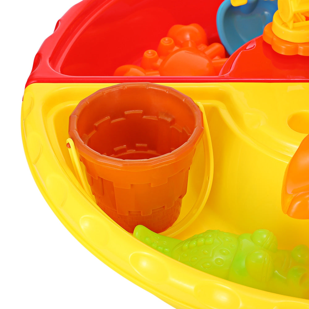 THE NORTH E HOME 9826 Kids Sand Water Round Table Beach Tools Toy