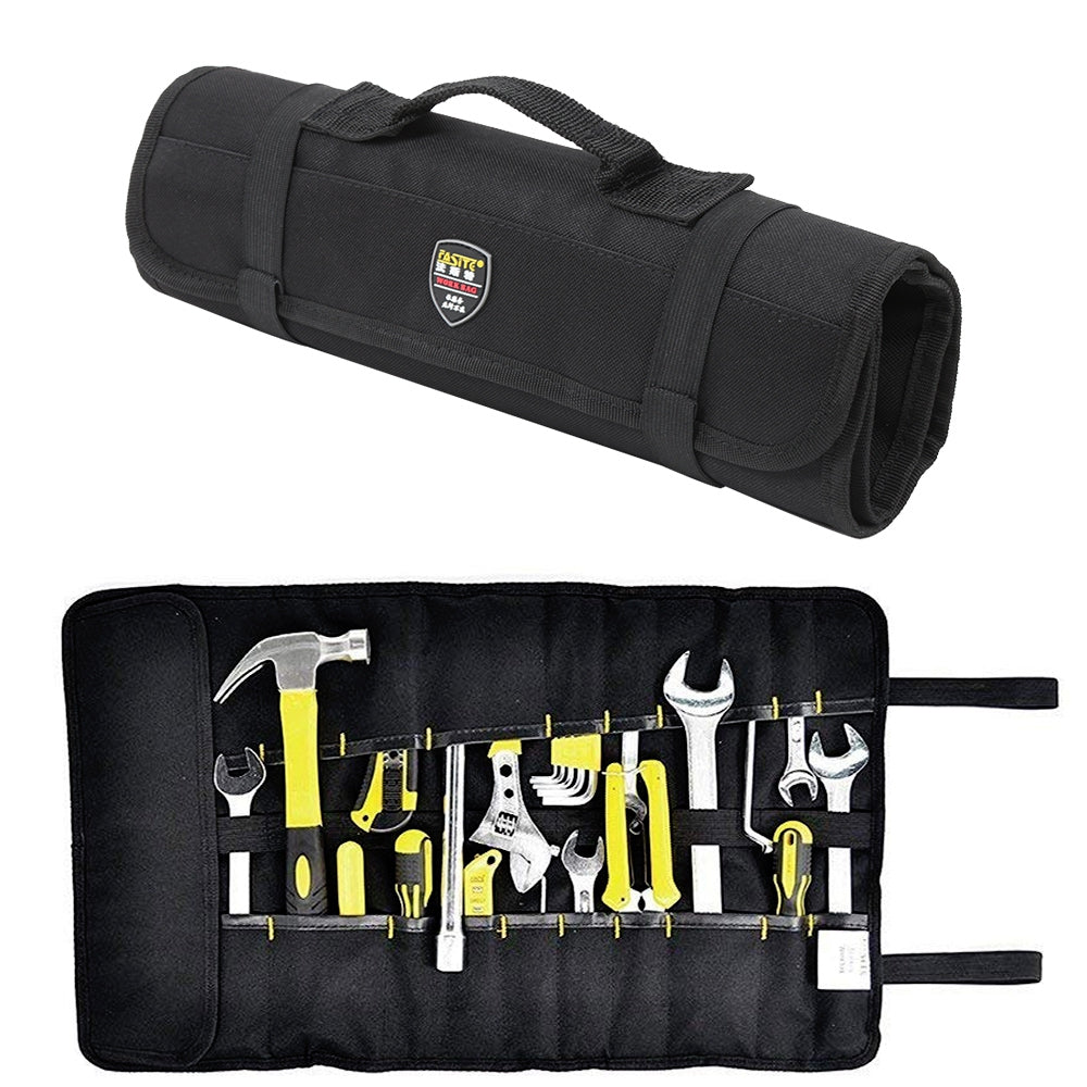 FASITE 35 Pockets Wrench Roll Up Tool Bag Rolling Organizer
