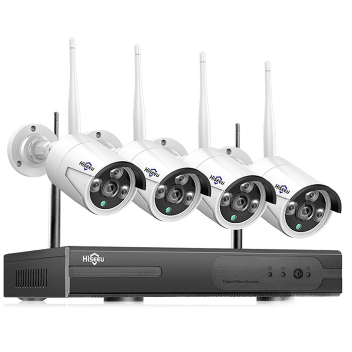 Hiseeu WNKIT - 4HB612 2 Million Pixel NVR Wireless Surveillance Camera 4pcs