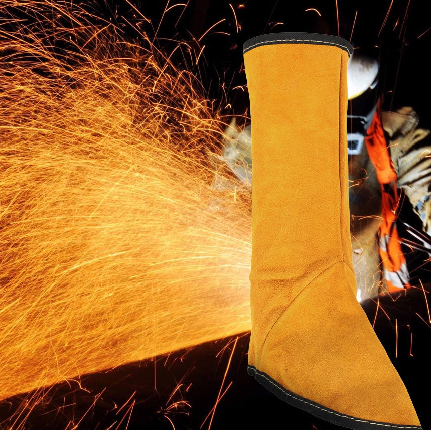 Leather Foot Cover Electric Welding Insulation Splash Guard Leg Protector Mask
