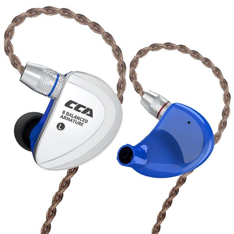 CCA C16 8BA Drive Units In Ear Earphone 8 Balanced Armature HIFI Monitoring Headphone Headset With Detachable Detach 2PIN Cable