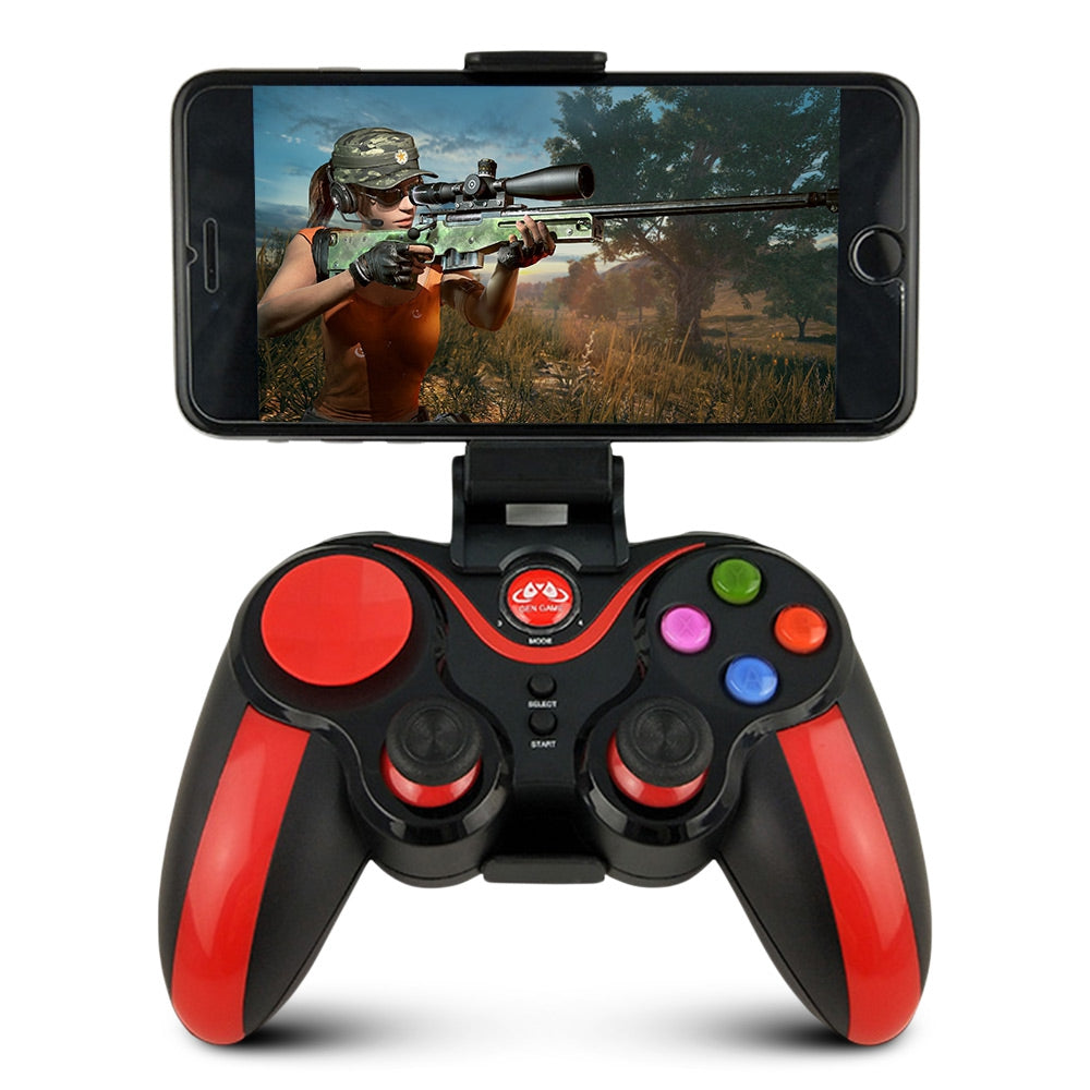 GEN GAME S5 Enhanced Edition Wireless Game Controller Gamepad with Phone Holder