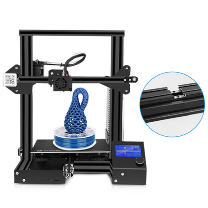 Creality 3D Ender - 3X ( Ender - 3 Upgraded Version ) 3D Printer with Tempered Glass Bed + 5pcs 0.4mm Nozzle