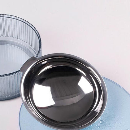 Pet feeding bowl heatable stainless steel for cats and dogs