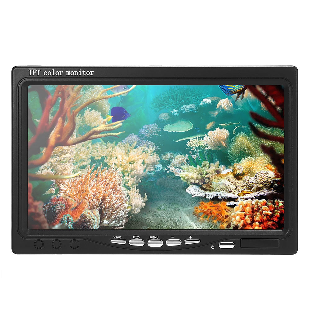 NACATIN 30pcs LEDs Fish Finder Camera Kit IR 15 / 30 / 50M Underwater 1000TVL 7 inch LCD Monitor
