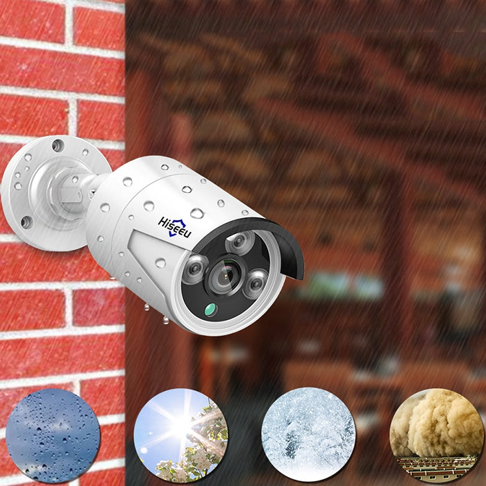 Hiseeu HB612 1080P 2.0MP 3.6mm POE Mini Bullet IP Camera
