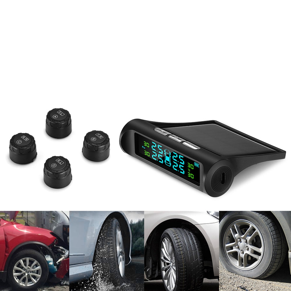 BX - 01 Digital Display / Dual Charging / Weather Monitor / Multiple Protections Tire Pressure Monitor