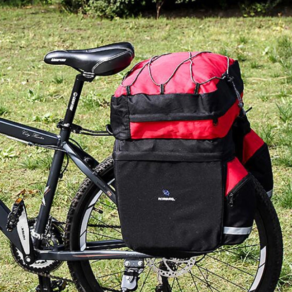 ROSWHEEL 14950 60L MTB Bicycle Bag Back Seat Double Side Bags