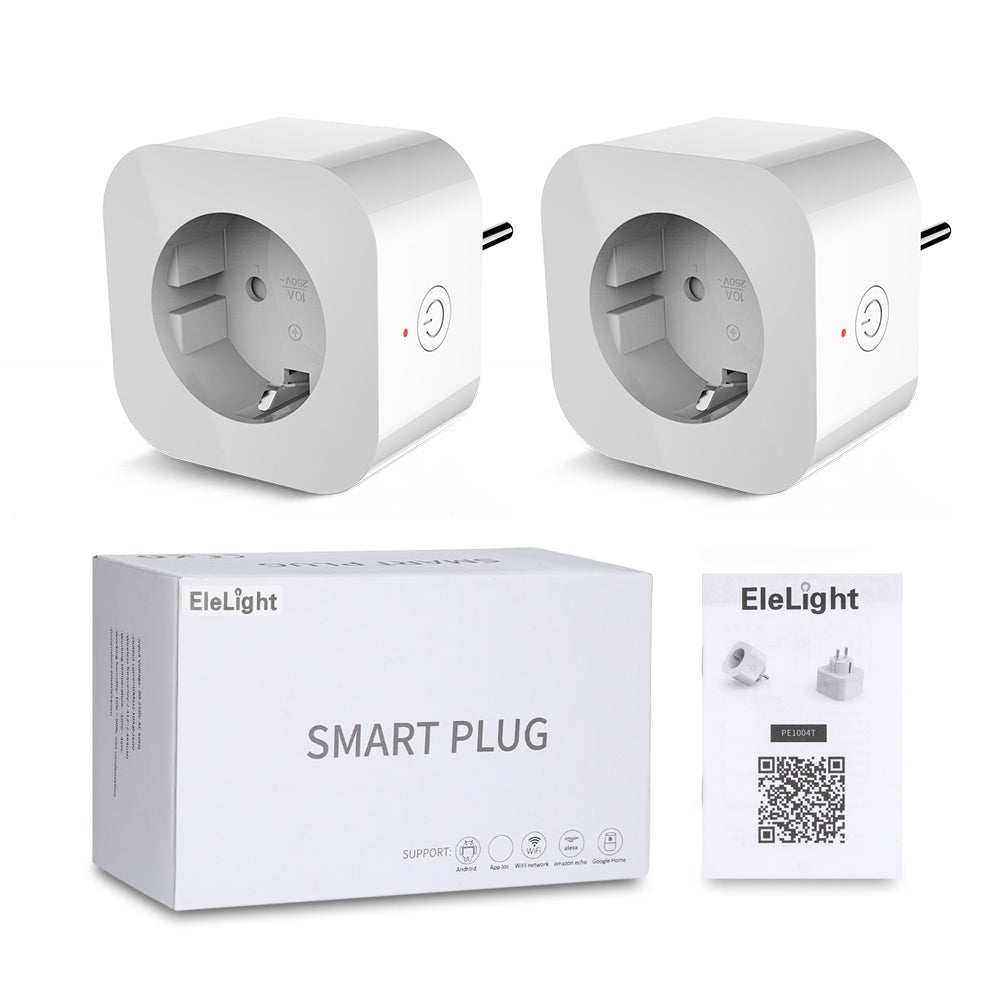 2PCS Elelight PE1004T Smart Sockets Remote Control Outlet with Timing Function