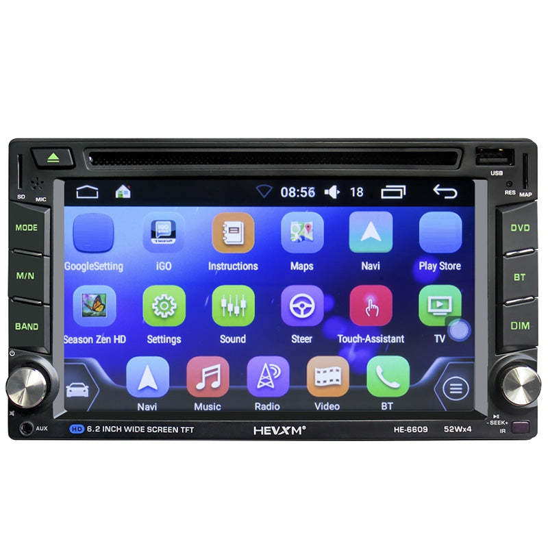 HE6609 Hands-free Communication / FM Radio / Bluetooth / 6.2 inch Capacitive Screen Car DVD Navigation