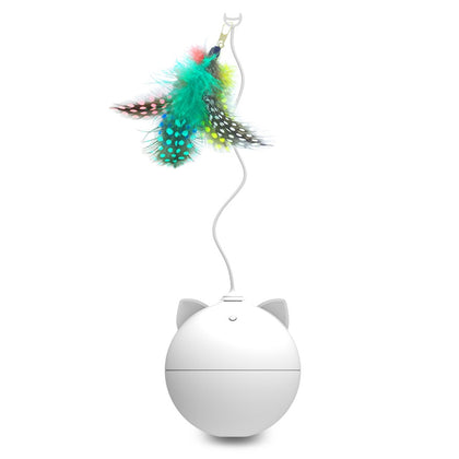 Automatic Cat Toy with Feather