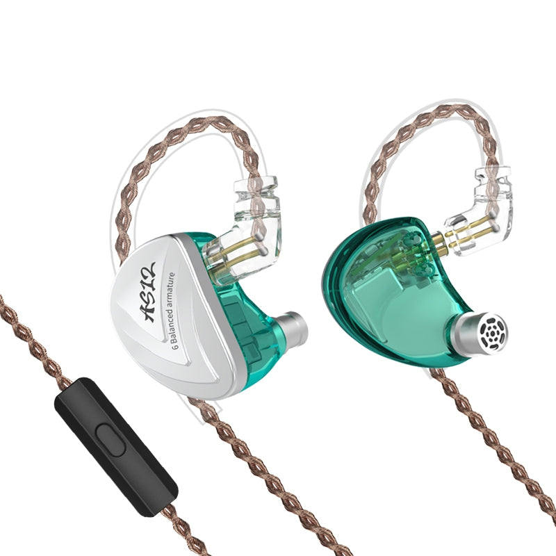 KZ AS12 Perfect Sound / Comfortable Wearing / Superior Compatibility Balanced Armature Dirvers Earphone