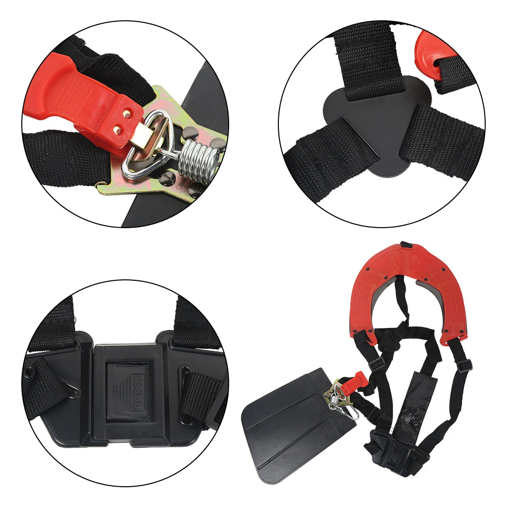 Double Padded Grass Trimmer Quick Release Shoulder Straps Suits