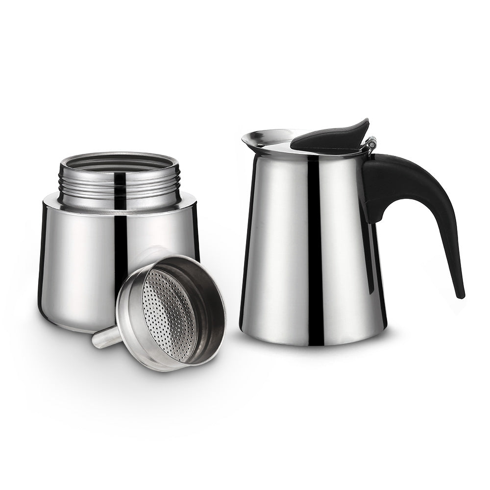 100ML 2-Cup Stainless Steel Mocha Espresso Latte Percolator Coffee Maker Pot
