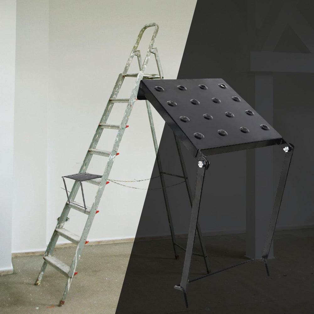 Ladder Platform Accessory Heavy Duty Work Stand System with Step Stools Staircase Tray