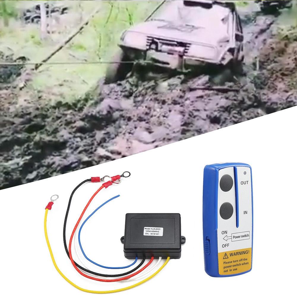 KLS - 203X Wireless Winch Electric Remote Control Anti-interference Twin Handset