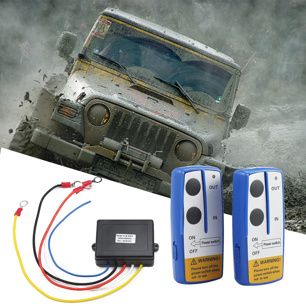 KLS - 203 - 2 Wireless Winch Electric Remote Control Anti-interference Twin Handset