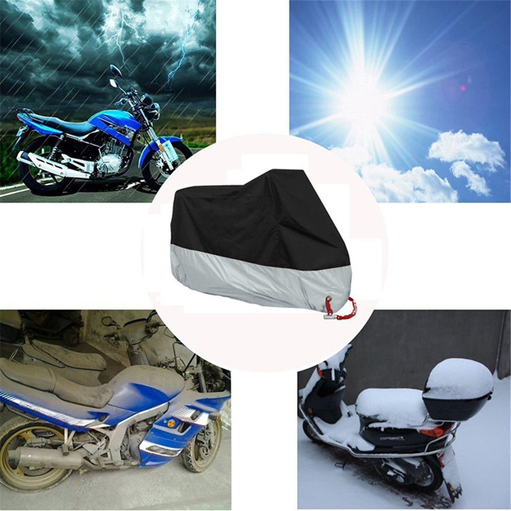 Motorcycle Cover Outdoor UV Protector for Bike Waterproof Dustproof Cover