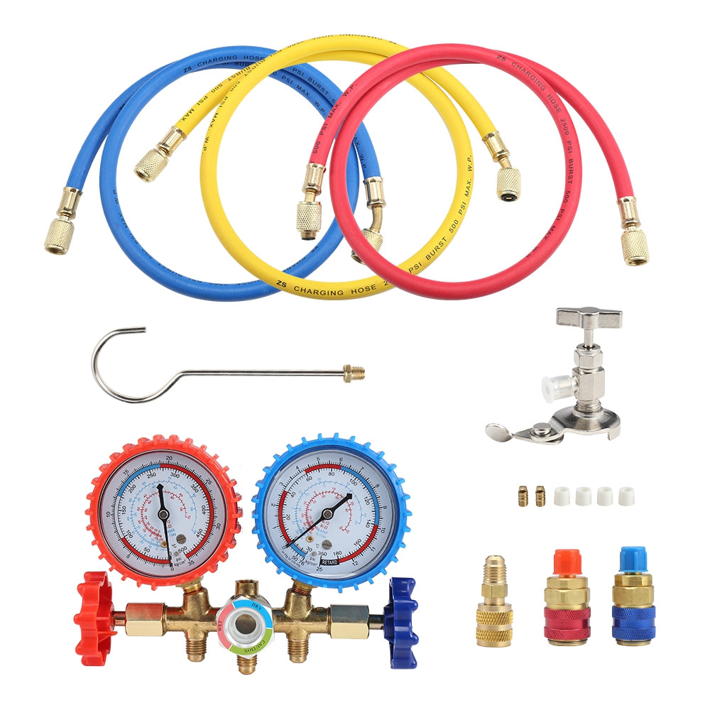 Refrigerant Manifold Gauge Set Air Conditioning Refrigerator for R12 / R22 / R404A / R134A