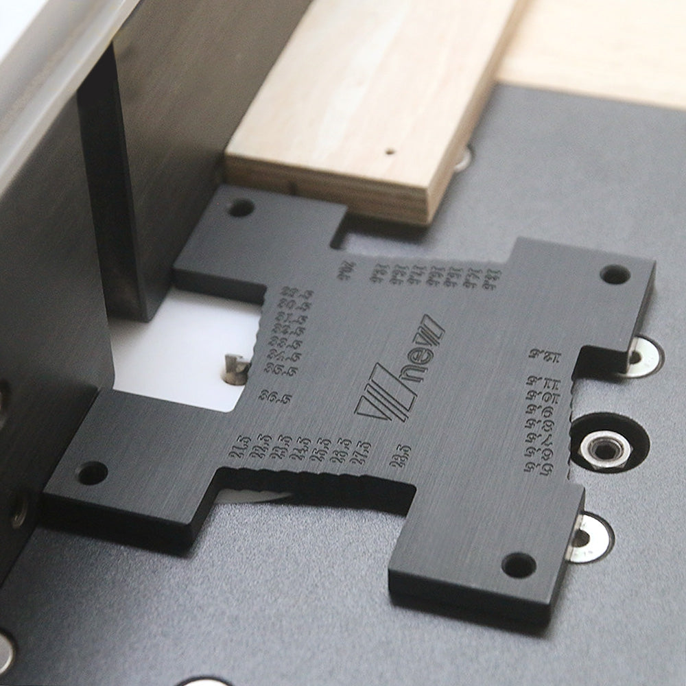 High Precision Height Gauge Depth Ruler Metric Measure Tool for Router Table