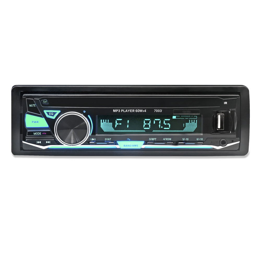 7003 Bluetooth Auto MP3 Player Multimedia System 87.5 - 108.0MHz FM Radio with Remote Controller