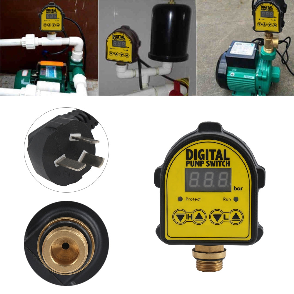 MD - SW Digital Automatic Air Pump Control Switch Water Oil Pressure Controller