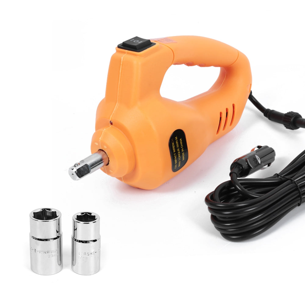 12V Portable Car Tire Electric Impact Wrench Tool Set