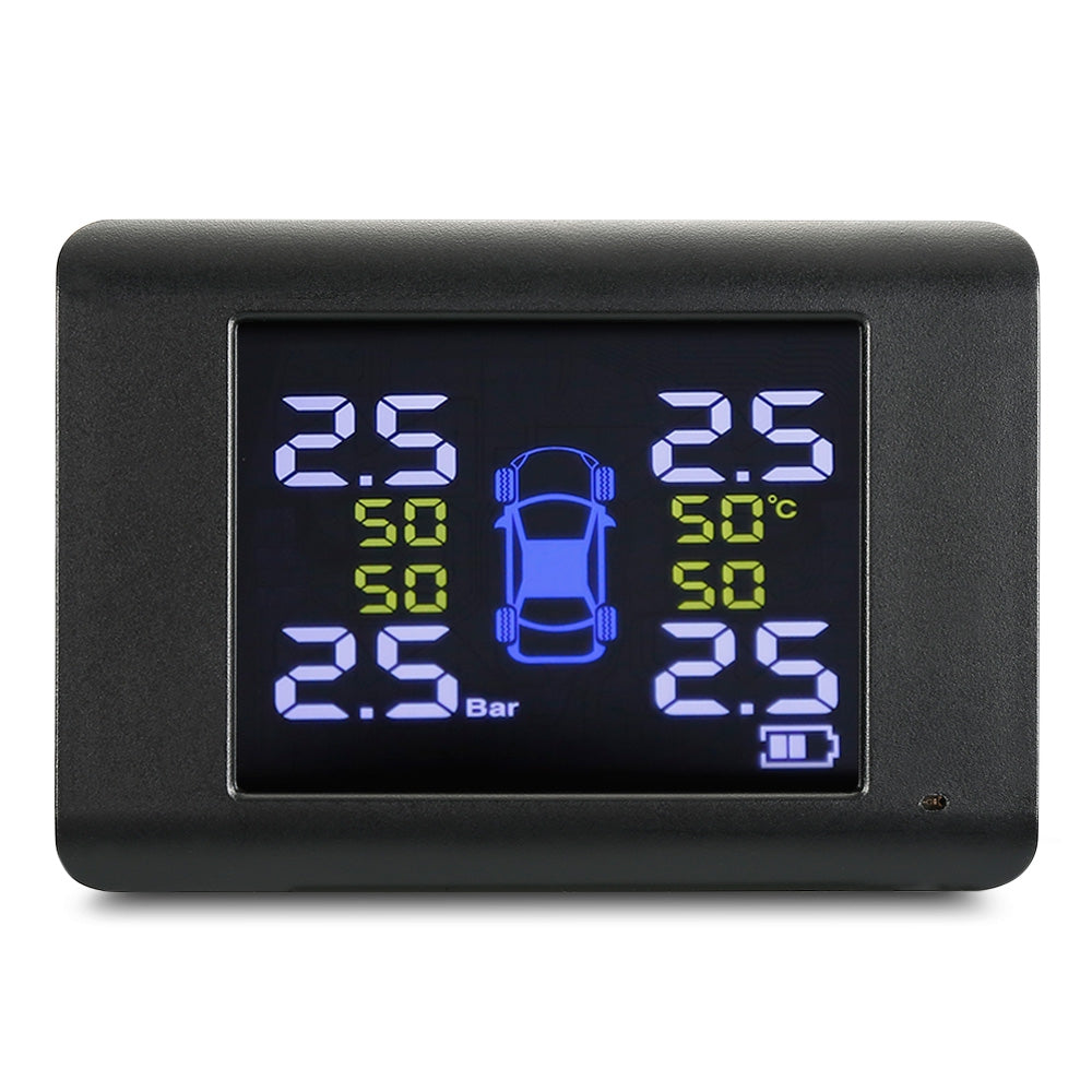 S6 Tire Pressure Monitoring System Solar TPMS Real-time Tester with 4 External / Internal Sensors
