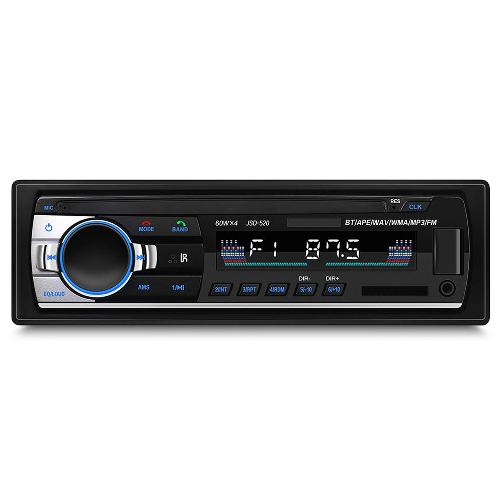 JSD - 520 Bluetooth Auto MP3 Player Multimedia System 87.5 - 108.0MHz FM Radio Remote Control
