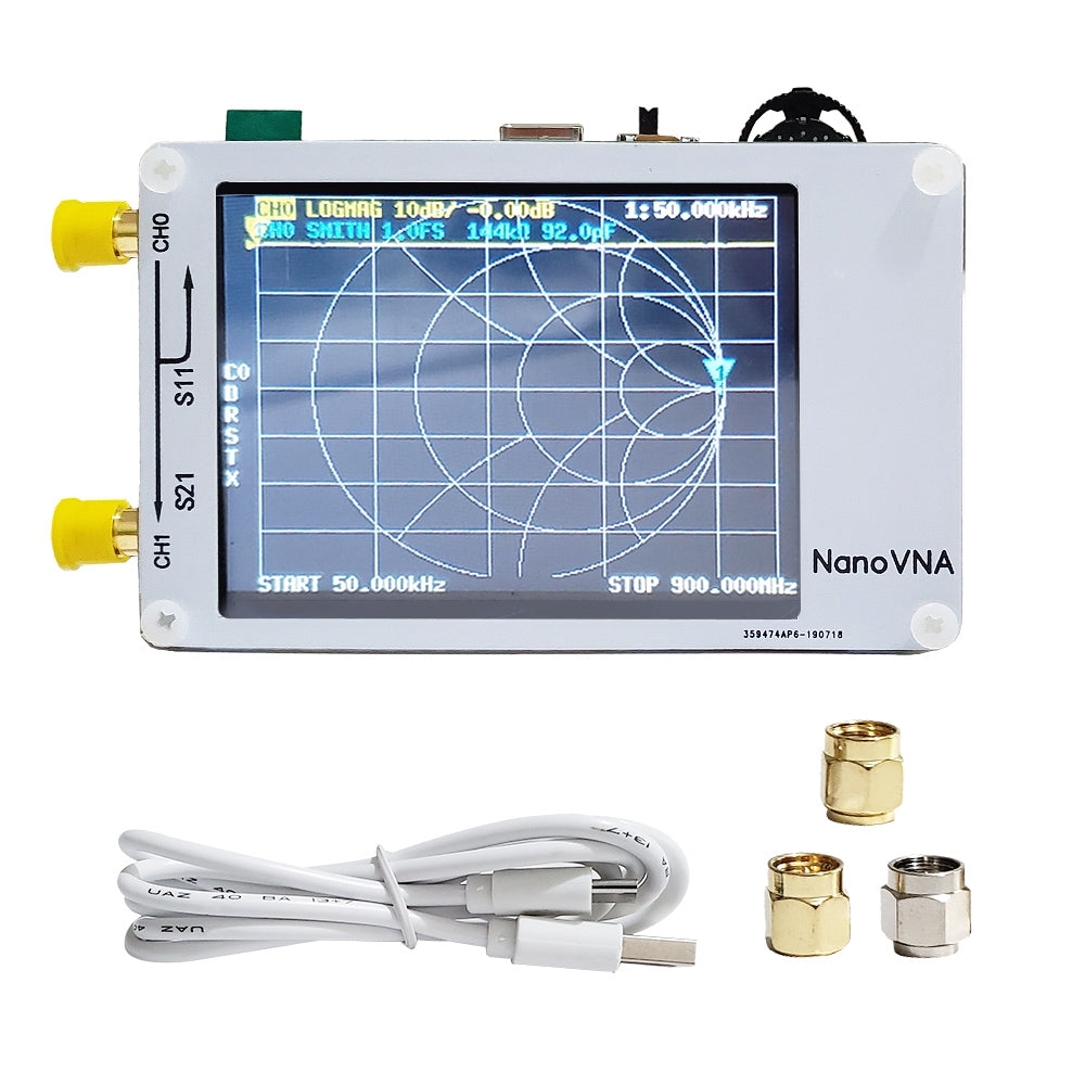 "Portable 2.8"" LCD Vector Network Analyzer 50kHz - 900MHz"