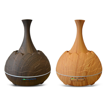WiFi Aroma Diffuser Essential Oil Machine Air Humidifier Wood Pattern