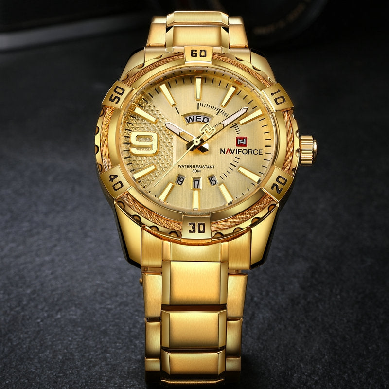 Men Fashion Waterproof Quartz Military Stainless Steel Sports Watches