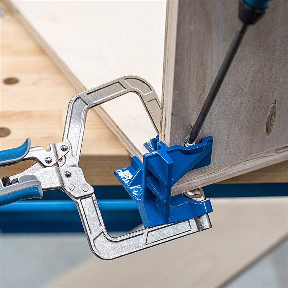 Auto-adjustable 90 Degree Woodworking Clamp