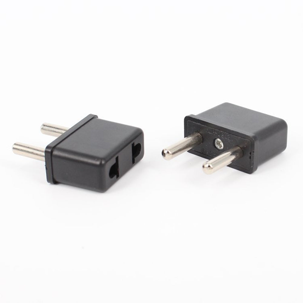 US To EU Adapter Converter Black