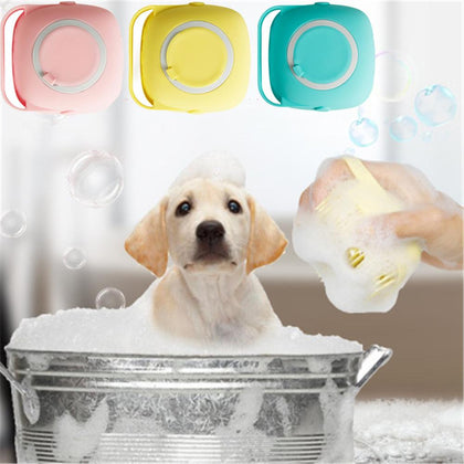 Pet Bath Brush Soft Silicone Comb Dogs Cats SPA Shampoo Massage Brush Shower Hair Removal Comb Pets Cleaning Grooming Tool
