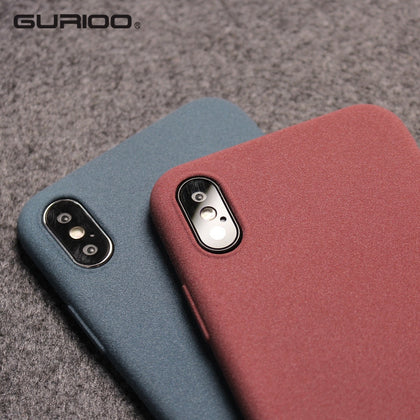 Gurioo Mobile Case Ultra-Thin Sandstone Case Back Cover Soft Scrub Cover For iPhone 11 Pro 6 6S 7 8 X XR XS Max Plus phone case