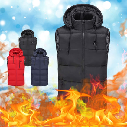 Wiht Hat Outdoor Usb Infrared Heating Vest Flexible Electric Thermal Winter Warm Jacket Clothing For Sports Hiking Riding