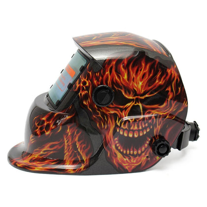 Skull Halloween Solar Energy Automatic Darkening Electrical Welding Helmet Mask Devil Adjustable Welding Helmet