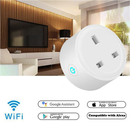Mini Smart Plug Wifi Socket Wireless Phone Remote Control Switch Smart Timer Plug Outlet Socket Work with Google Assistant IFTTT