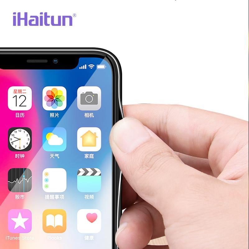 Ihaitun Glossy Glass Case For Iphone X Xs Max Xr Cases Ultra Thin Transparent Back Cover Case For Iphone 7 8 Plus Slim Soft Edge