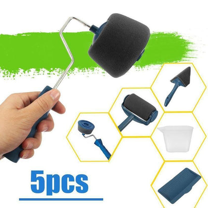3-8 PCS DIY Paint Roller Brush Tools Set Multifunctional Household Use Wall Decorative Handle Flocked Edger Tool Painting Brush