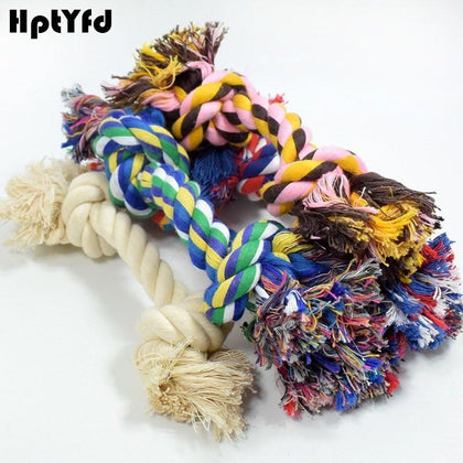 Knot Dog Toy Rope Pet Cotton Linen Chew Toys Bite Resistant for Large Dogs Teeth Training Durable Rope Chew Interactive Toys